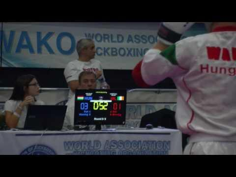 Niall Carter V Zalan Nagy WAKO Junior And Cadet World Championships 2016