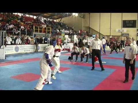 Luisa Gullotti V Anna Benedetti WAKO European Championships 2016