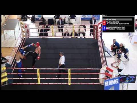 Sandro Poletan V Kayrat Nurmaganbetov WAKO European Championships 2016