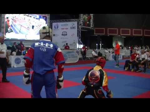 Kameron Bains Doyle V Lukas Jurisic WAKO Junior And Cadet World Championships 2016