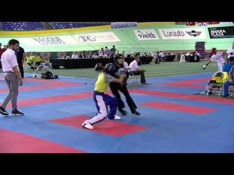 Vitalii Solovei UKR V Adam Condon IRL Junior WAKO European Championships 2015
