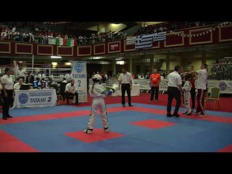 Vivien Viczian V Eryn Birkhead WAKO Junior And Cadet World Championships 2016