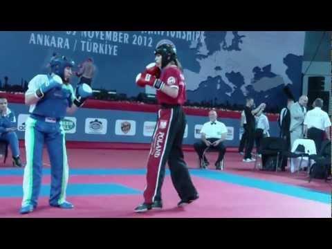 EC WAKO 2012, LC-60kg 1/4 Finale Sabina Bec(SLO) Vs Katarzyna Modrzejewska (POL)
