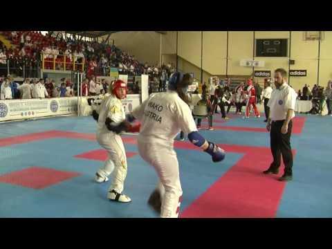 Deborah DeVita V Helena Andic WAKO European Championships 2016