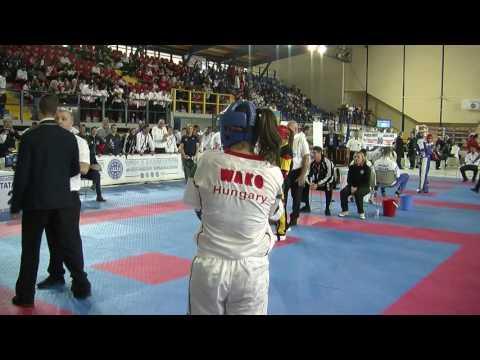 Evelym Neyens V Dorina Szabo WAKO European Championships 2016