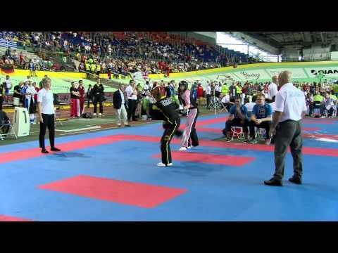 Tirill Næss NOR V Johanna Zeitler GER Junior WAKO European Championships 2015