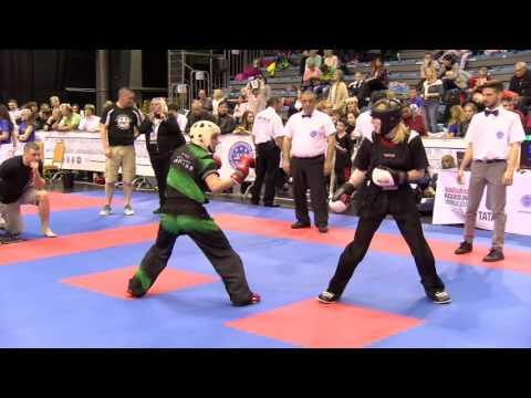 Bo Mangan V Michaela Muhlberg Mache Hungarian Kickboxing World Cup 2016