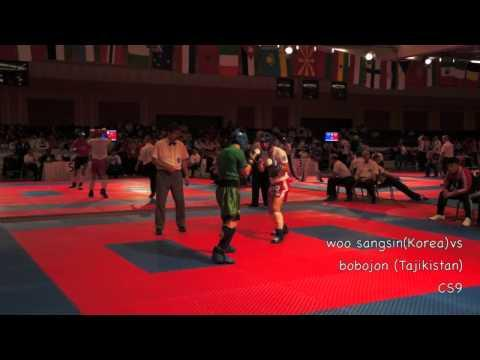 WAKO WORLD KICKBOXING CHAMPIONSHIP KICK LIGHT Woosangsin(korea) VS Bobojon(tajikistan) Round 2