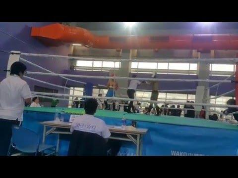 2016 年 4 月 WAKO 踢拳道全國錦標賽 低踢組 67KG級男子選手 準決賽 第一至第二回合 中山拳館 踢拳道 Kickboxing 賽事