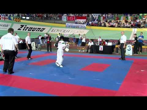 Luke Kelly IRL V Peter Laurincz HUNJunior WAKO European Championships 2015