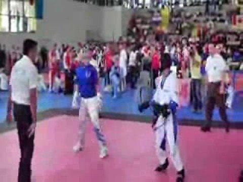 WAKO 2008 USA (Justin Ortiz) Vs Greece Round 1