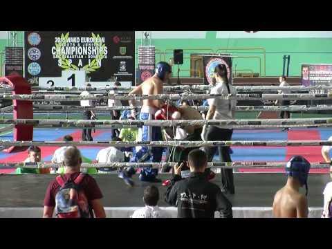 Peter Carr IRL V Dmitrii Tomilin RUS WAKO European Championships 2015