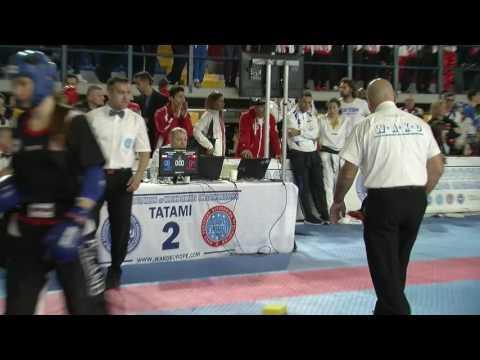 Cassandra Fasolo V Paulina Jarzmik WAKO European Championships 2016