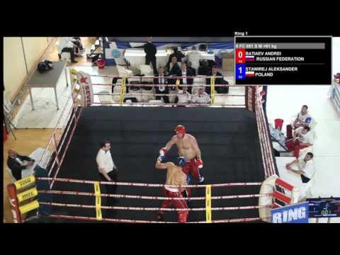 Andrei Batiev V Alekxander Stawirej WAKO European Championships 2016