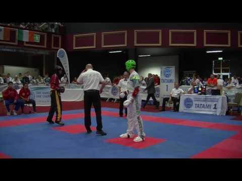 Karl McGrath V Cherif Omar Losada WAKO Junior And Cadet World Championships 2016