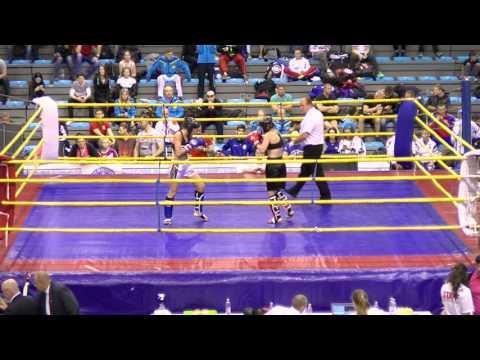 Anna Kaisa Hokkanen V Michaela Kerlehova Hungarian Kickboxing World Cup 2016