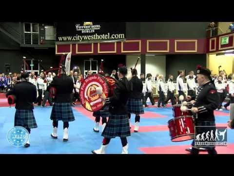 Dublin Fire Brigade Pipe Band Opening Ceremony WAKO World Champioships 2015